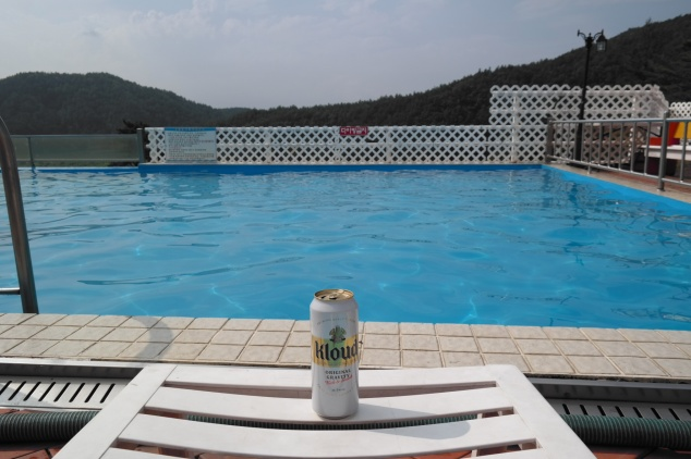 Post-beach pool time.