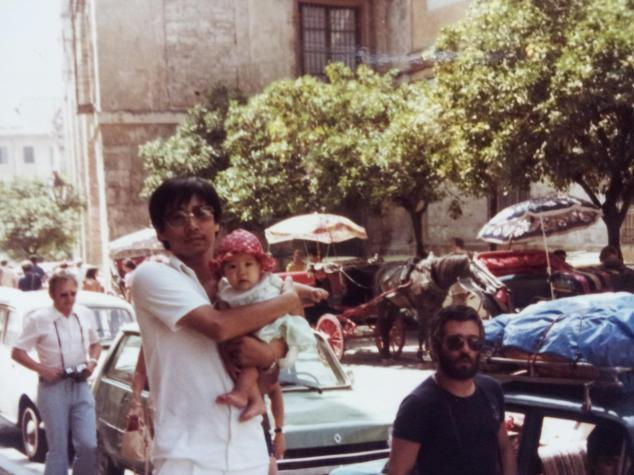 My dad and I on the streets of Sevilla in the summer of 1978.