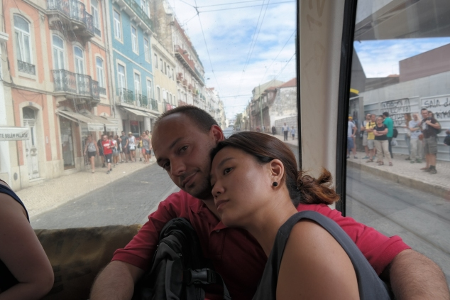 This is us , tramming it to Belém.