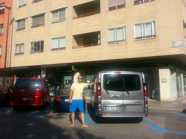 Fabien with Our Trusted Van